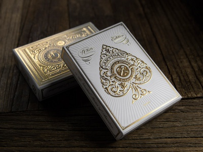 White Artisan Playing Cards playing cards playing cards simon frouws theory11 deck of cards gold foil white elegant