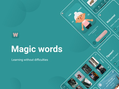 App for learning English app ui design english