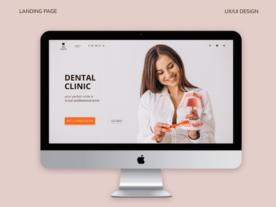 Dental clinic / landing page / website/ ui / medical medical care dental clinic medical app website webdesign ux ui design