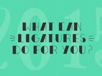 Ligatures YYZ Banner Design