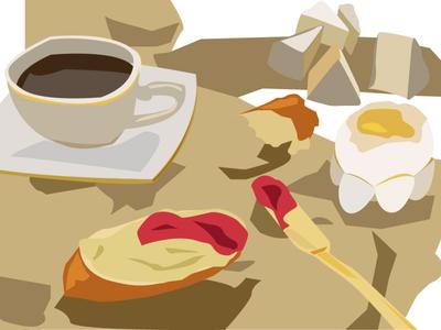 morning 🥨✨ sketch morning minimalism illustration