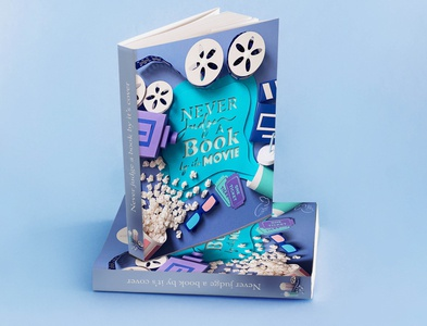 Never judge a book by it's movie movies illustraion cover design cover art paper art papersculpture design 3d ilustration papercraft papercut