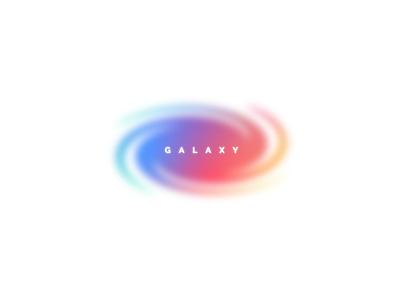 Galaxy ✨ blur stars star vortex colorful gradient logo brand branding galaxy