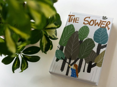 The Sower | Children's Book Illustration ui creative painting childrens book childrens book illustration digital illustration vector art digital art illustration minimal artwork