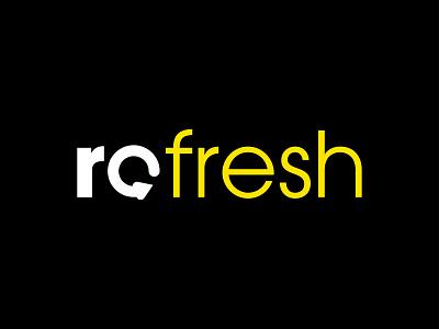 Refresh Media | Branding graphic design art illustrator minimal icon typography vector branding logo design