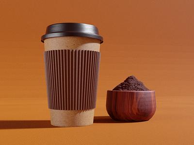 Coffee Cup packaging 3d mockup coffee