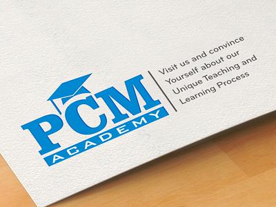 PCM LOGO graphic design branding logo