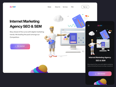 SEO & SEM ux ui illustration graphic design design digital marketing agency sem agency seo agency