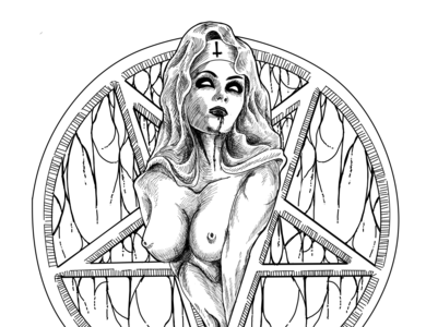 Devil Nuns darkart clothing label illustration clothing design clothing brand artwork design