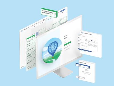 Exploded Login Screen Animation calendar meetings login web design webdesign design logo animation