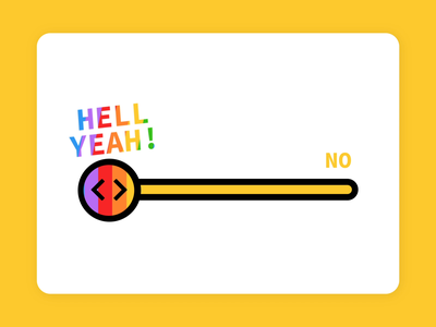 Giphy Yes No Scale interactive rainbow emoji animation gif giphy yes no