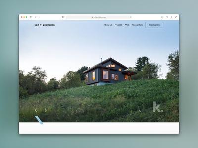 Kell Website Homepage homepage design portfolio website architect website architecture website