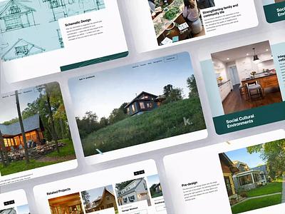 Architecture Portfolio Site Highlights interface responsive design desktop app uxui design ux ui branding animation