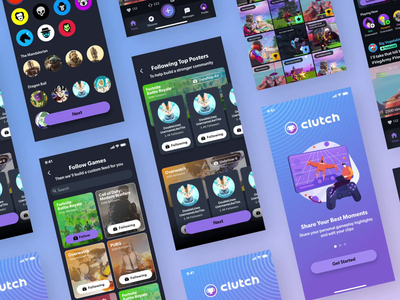 Clutch.Win User Onboarding design animation ui ux