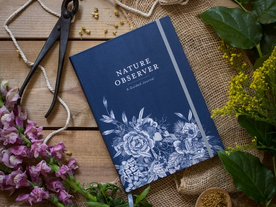 Nature Observer - Published! bujo cover art book cover publication design author journal book
