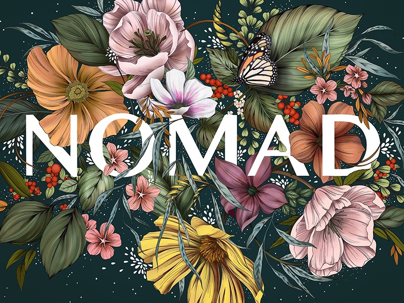 Nomad - Illustration packaging nature floral apparel logo branding pattern illustration