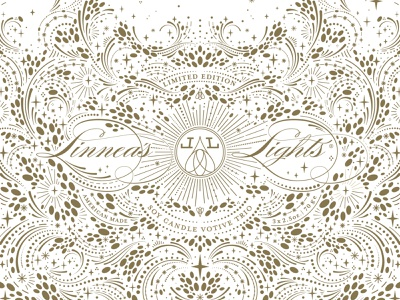 Linnea's Lights x Maggie Enterrios pattern design holiday patterns drawing typography branding surface design packaging pattern