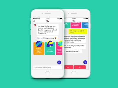 Women's Health App app ios womens health chat bot ai interface ux ui