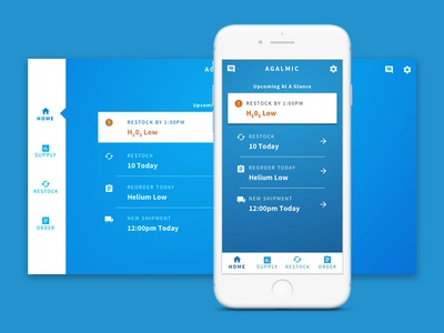 Inventory Management Web App web app ux ui inventory mobile first