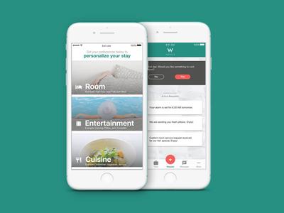 Hotel Concierge App ui ux react native app hotel travel