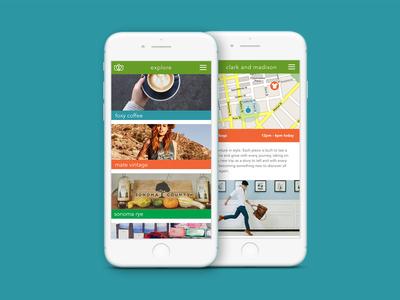 Pop Up Shop App founder pop-up shop app shopping ux ui creative direction