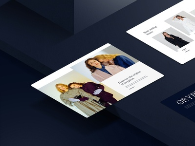 Free / Gryphon Fashion Store – Sketch Template – Perspective website web ux ui interaction ecommerce shop store fashion collection free freebie download template theme jacket blazer woman luxury beauty