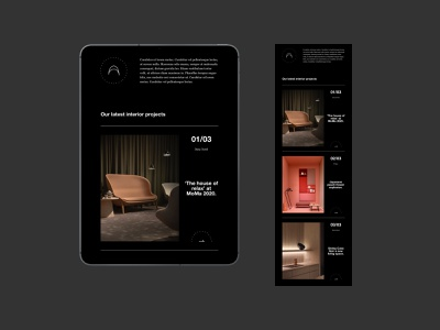 Interior Design Newsletter for MailUp scandinavian interiour design dark black living projects moma brutalism brutal helvetica architectural architecture architect website web ux ui interaction email newsletter