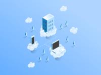 IoT Landing Page Illustration