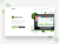 Qbserve - Landing Page - Hero Screen
