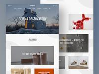 Gessato Magazine Redesign - Home Page