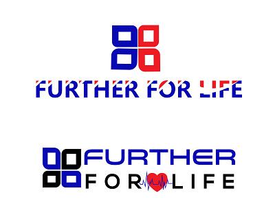 FURTHER FOR LIFE branding art illustrator graphic design logo icon vector minimal illustration flat design