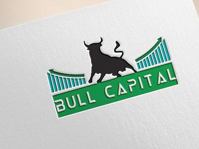 Bull Capital art illustrator graphic design logo icon vector flat minimal illustration design