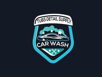 car wash Logo art illustrator flat graphic design logo icon vector minimal illustration design