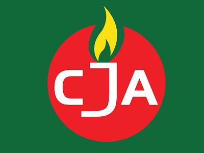 CJA LOGO3 art illustrator graphic design vector logo icon flat minimal illustration design