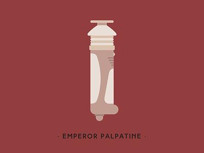 Emperor Palpatine animation star wars motion illustration lightsaber