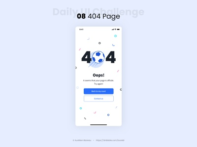 404 Page - Daily UI 008 404 error error page error 404 404 page 404 error page 404page branding illustration euro2020 app design dailyui 008 ui design ui dailyuichallenge dailyui