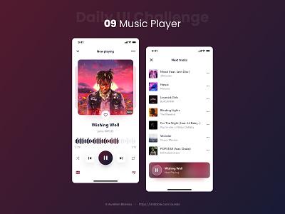 Music Player - Daily UI 009 dailyuichallenge dailyui 009 music player music app music design ui ui design dailyui