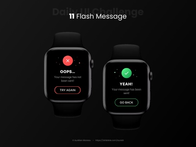 Flash Message - Daily UI 011 watch daily 100 challenge dailyui 011 dailyuichallenge ui design ui design dailyui
