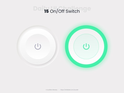 On/Off Switch - Daily UI 015 toggle neumorphism ui neumorphism dailyuichallenge ui ui design design dailyui