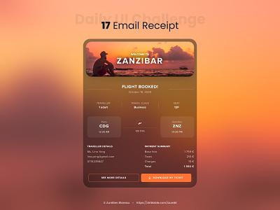 Email Receipt - Daily UI 017 dailyui 017 receipt email receipt email design email dailyuichallenge ui design ui design dailyui