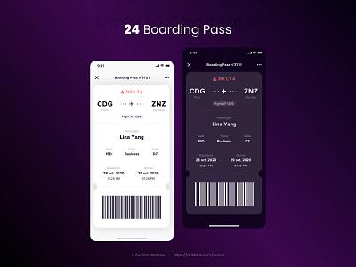 Boarding Pass - Daily UI 024 boarding pass boardingpass sketch dailyuichallenge ui design ui design dailyui
