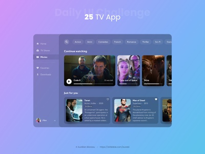 TV App - Daily UI 025 tv app tv sketch app dailyuichallenge ui design ui design dailyui