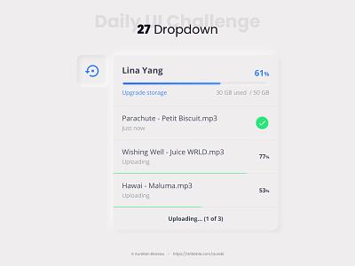 Dropdown - Daily UI 027 neumorphism ui neumorphism sketch dailyuichallenge ui design ui design dailyui