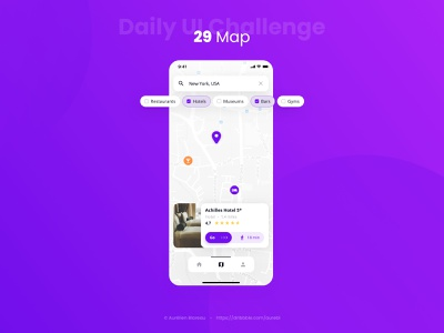 Map - Daily UI 029 mobile design mobile daily ui mobile ui sketch dailyuichallenge ui design ui design dailyui