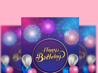Happy Birthday card design vector logo beautiful happy birthday birthday invitation birthday anniversary wedding card invitation