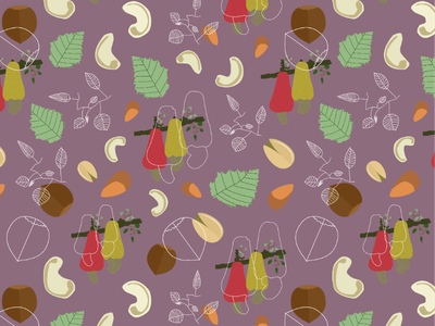 Dry fruits Pattern textile pattern surfacedesign