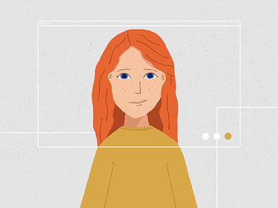 Faces of Nuna: Katy women spotlight people identity ginger illustration data branding