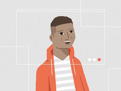 Faces of Nuna: Famien identity man spotlight people diversity data branding illustration