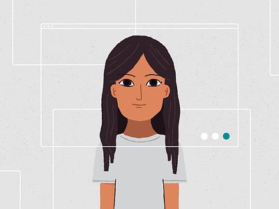 Faces of Nuna: Divya startup people data diversity spotlight branding illustration idenity