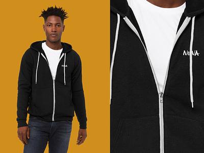 Nuna Branded Sweater analytics data healthcare apparel sweater swag branding typography design